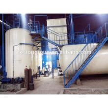 sistema de pirólisis para convertir plástico en aceite, máquina de destilación de aceite de motor / crudo residual