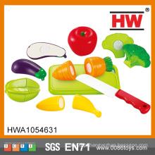 Hot vender plástico fingir playset mini alimentos brinquedo