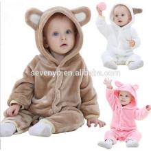 2018 popular cute animal cloth,Baby Boys Girls Bear Thicken Cotton Onesie Sleepwear Romper Newborn Winter Clothes