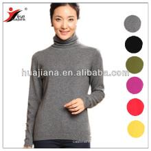 Camisola feminina de cashmere tricô