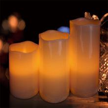 LED-Kerze mit Elfenbein Design Luxury Collection