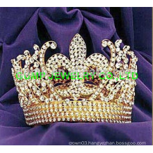 fleur de lis round tiara crown