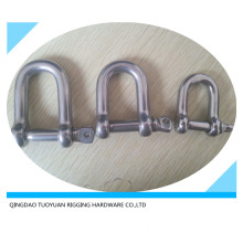 European Type D Shackle Stainless Steel Rigging