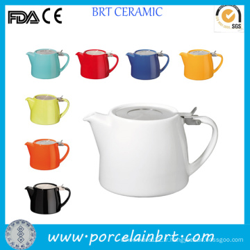 Vente en gros Pot de thé en céramique de souche de couleur différente
