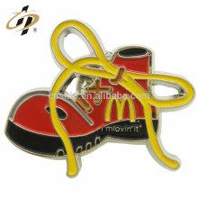 Top selling zinc alloy custom shoes logo enamel badge with metal pin