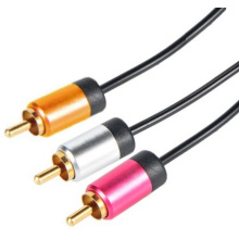 Câble stéréo RCA en aluminium Shell 1RCA/2RCA/3RCA/3.5mm