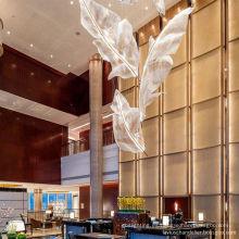 Diseño de dibujo gratuito Home Hotel Lámpara de araña de cristal LED