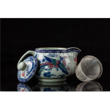 500ml Dragón tradicional y tazón de té de cerámica Phenix