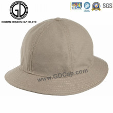 Professional Low Crown Khaki Cotton Bucket Hat with Customized Logo