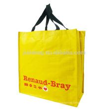 Standard size reusable recycle non woven shopping bag carrier