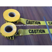 черный и желтый печать wraning ленты без клей/PE предупреждающая лента