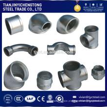 encaixe de tubulação de aço inoxidável forjado de alta qualidade do cotovelo de aço de carbono de 90 graus