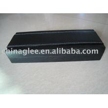 cuir exclusif avec boîte de stylo en plastique