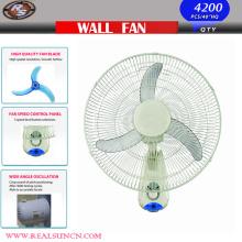 Ventilateur oscillant mural 16 pouces 3 pales PP et 3 choix de vitesse
