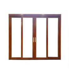 Puertas correderas de aluminio de grano de madera sin rotura de puente térmico