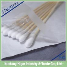 Einkopf-medizinische Wattestäbchen mit steriler Verpackung