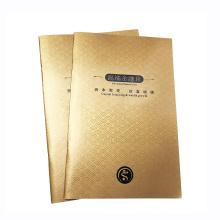 Folheto de papel personalizado para laminação de impressão offset