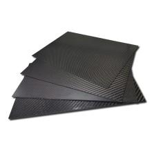 Le panneau de plat de fibre de carbone de 5mm couvre le matériel composé élevé dur de dureté
