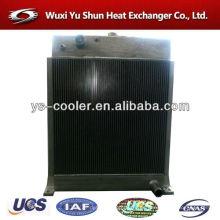 Intercambiador de calor de aluminio refrigerado por aire para bomba de vacío / maquinaria de construcción