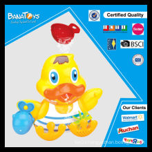 Colorful duck toy for kids plastic bath toys