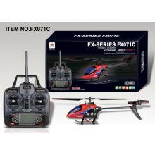 4CH Hélice sin equilibrio R / C helicóptero helicóptero de vuelo de interior y al aire libre de diversión de control remoto de radio helicóptero FX071C