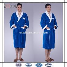 High Quality Cotton Cut Velvet Style Solid Color Custom Hotel Spa Bathrobe