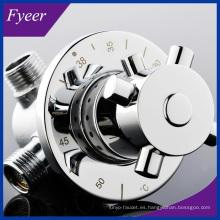 Fyeer Nueva válvula de mezcla termostática de latón de control de temperatura del agua