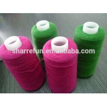 Usine stock diverses couleurs moutons laine fil 24nm / 2 en gros