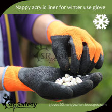 SRSAFETY 7G Terry knitted cotton personalized winter gloves