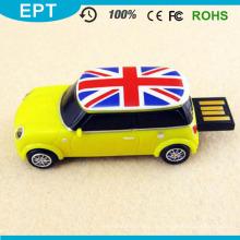 Personalizado azul carro forma USB Flash Drive para estudante (EP055)