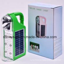 2015 wiederaufladbare tragbare Outdoor LED Solar Camping Taschenlampe