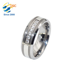 Couple memorial fashion engagement stainless steel ring