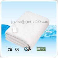 Cobertor elétrico confortável do velo polar único com proteção de excesso de calor