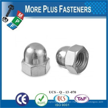 Made in Taiwan Stainless Steel DIN 1587 Acorn Domed Nut