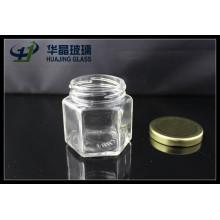 Huajing высокого качества малых 138 мл гексагональной Мейсон Стеклянна