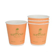 Custom paper cup sheet_Ripple Double Single Wall hot drink coffee paper cup
