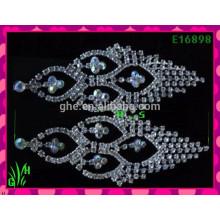 Los pendientes grandes hermosos del ornamento de la gota del diseño más último, diseños de los pendientes del kashmiri