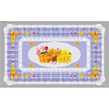 LFGB tout en un design indépendant (TZ-0024) imprimé nappe transparente 90 * 145cm