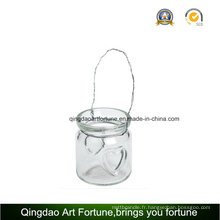 Porte-bougie en lanterne en verre Tealight pour décoration extérieure
