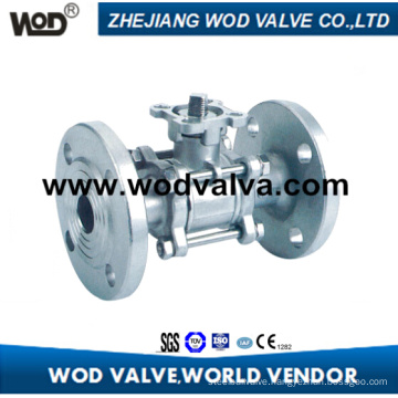3PC API Flange Ball Valve with ISO5211