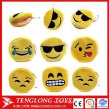 cheap custom coin purse, plush emoji coin purse