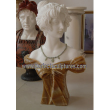 Tallando el busto de la cabeza de la escultura del mármol de la estatua de la piedra para la decoración (SY-S313)