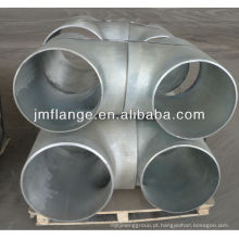 Aço carbono galvanizado sch160 montagem de tubos Tee