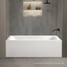 cUPC 150 cm acrylic single skirt bathtub with 3-side single-tiling flange