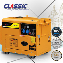 CLASSIC (CHINA) 5Kva Electric Start Portable 3 Fase Diesel Gerador Silencioso Kva Com Rodas