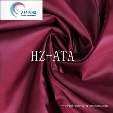 Antistatic 210t Lining Polyester Taffeta Fabric