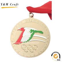 Goldmetall fertigen Sport-Medaille preiswertes Ym1170 besonders an