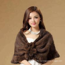 Chal proveedor personalizado moda piel de mapache