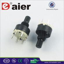 RS16-1-8 Mini Interruptor giratorio de 8 posiciones 2 polos
