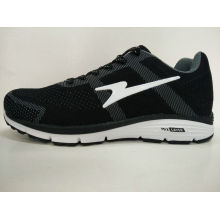 China Wholesale Brand Black Knitting Running Shoes
